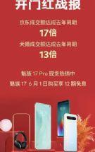 魅族618开门红:京东天猫成交额同比增长17/13倍