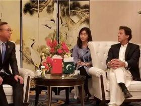 孙瑞哲与巴基斯坦总理伊姆兰・汗在京会面