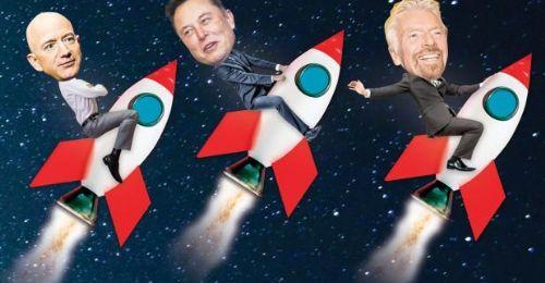 """太空竞赛――三个""""老男人""""的脸面之争"""